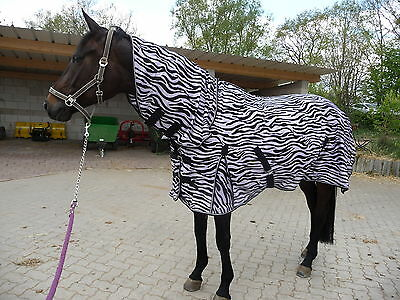 Neue Zebra (**FLIEGENDECKE**ZEBRA  für die Koppel- NEU mit Halsteil 145 cm SommerschlussVK)