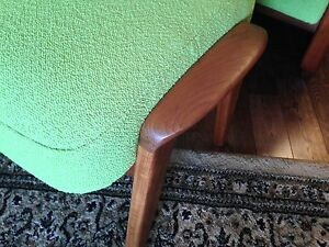 Mid Century R. Huber lounge arm upholstered chair & ottoman London Ontario image 6