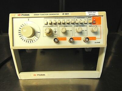 Protek B-801 Sweep Function Generator Tested With Power Supply Rh535