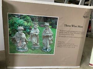 Poly resin nativity set and three Wisemen