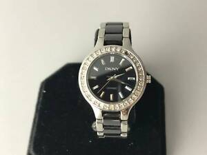 DKNY Diamond Black Ceramic Ladies Watch (Claremont)