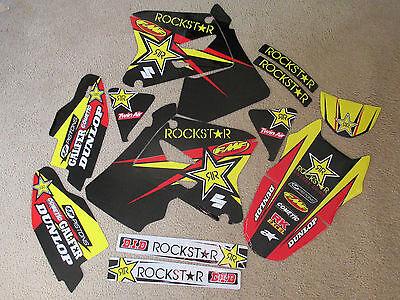 TEAM ROCKSTAR  SUZUKI  GRAPHICS  RM125 RM250 2001 2002 2003 2004 2005 2006 2007