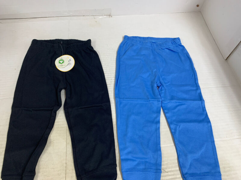 Little Star Organic Baby Boy 100% Organic Cotton Pants 18 month 2 Pair Brand New
