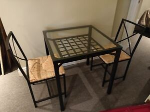 Glass Top Table/2 Chairs