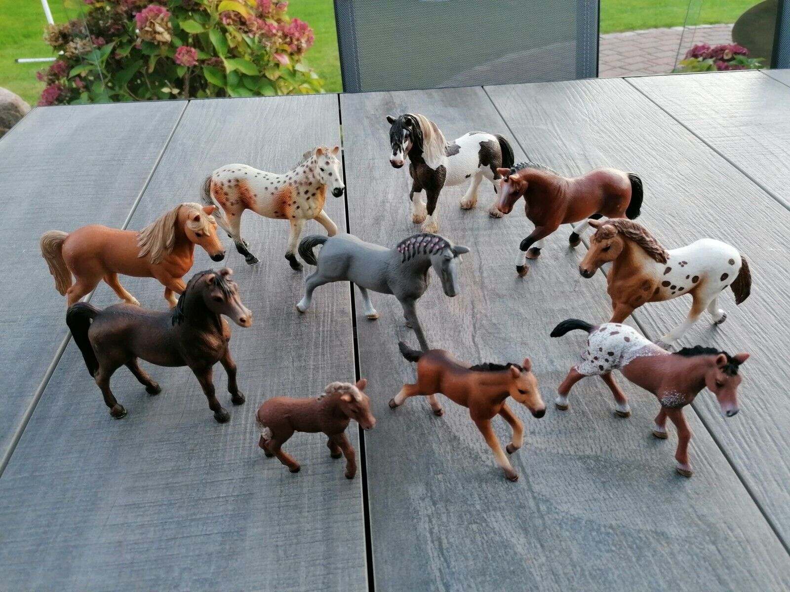 Schleich Pferde 10 Pferde bzw. Ponys im Set (Set Nummer 8)