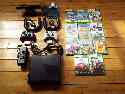 Microsoft Xbox 360 console, 11 games, controllers and extras