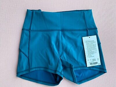 BNWT Lululemon IN MOVEMENT SHORT pacific teal UK10 US6 everlux