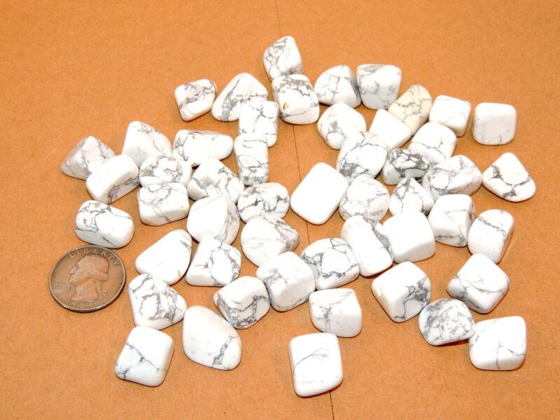 Howlite Tumbled Stones 1/2 pound (10598)