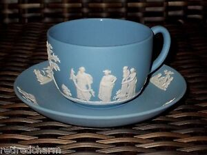 Blue Wedgewood Cup And Saucer 83