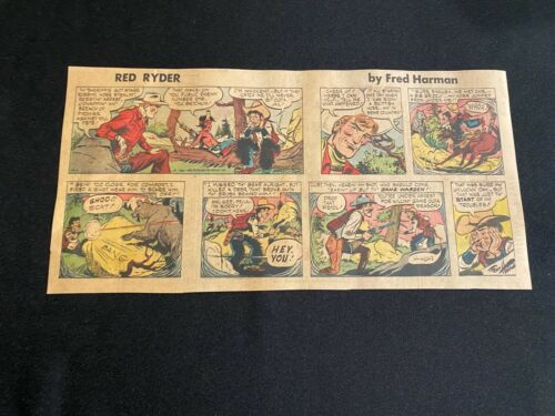 #10 RED RYDER by Fred Harmon Sunday Third Page Comic Strip April 1, 1956