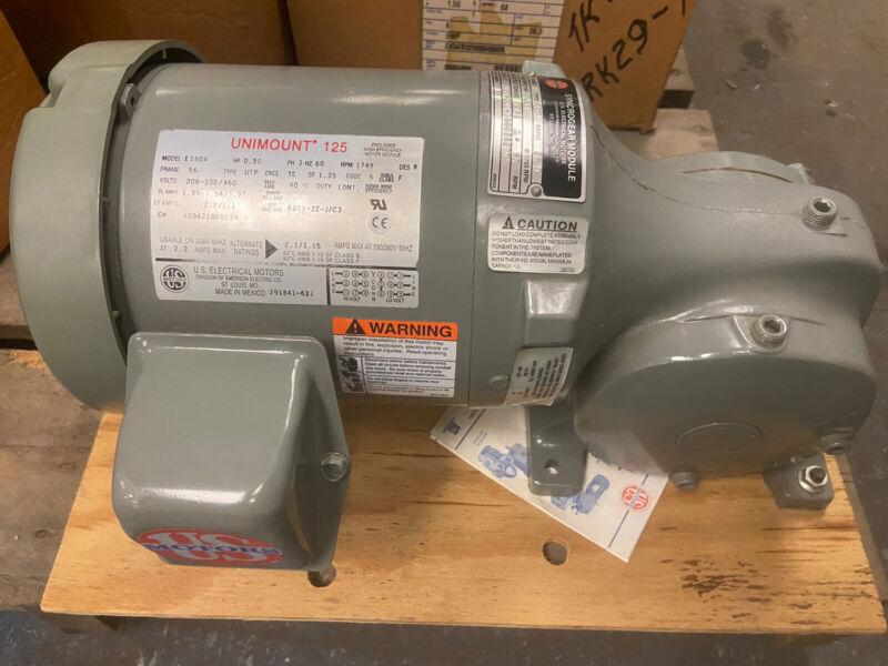 US Motor E434 Syncro Gear Gearmotor  1/2Hp Ratio 26 68RPM 208/230-460V