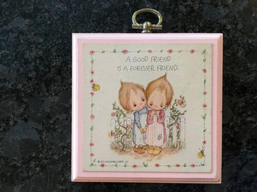 Vintage Betsey Clark Hallmark Friendship Mini Wall Plaque Good Friend Forever