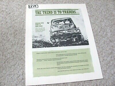 1960's SOUTH AFRICAN FORD THAMES TRADER SALES BROCHURE.