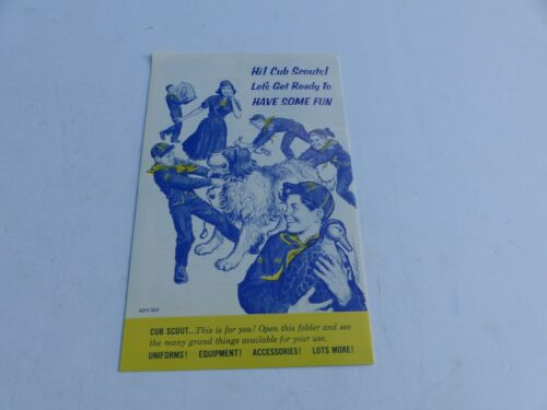 Used 1964 Boy Scouts of America Cub Scout Uniform & Equipment Folded Brochure