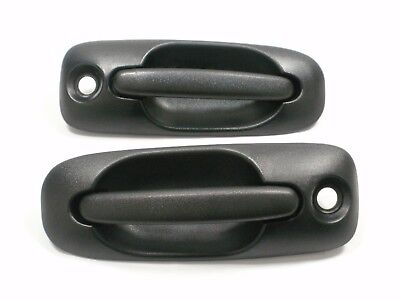 Outside Door Handle PAIR FRONT 01-07 Dodge Chrysler CARAVAN & GRAND TOWN COUNTRY