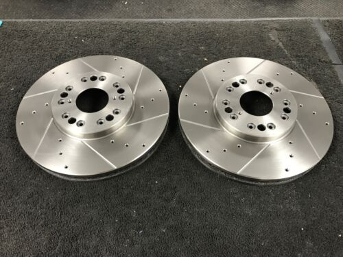 FOR LEXUS IS200 IS300 GS300 SUPRA  FRONT DRILLED & GROOVED BRAKE DISCS X 2