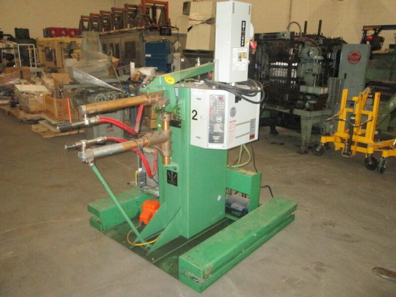 Lors Machinery Inc 140AR-DV 220V 1Ph 40Kva Rocker Arm Spot Welder W/Rising Stand