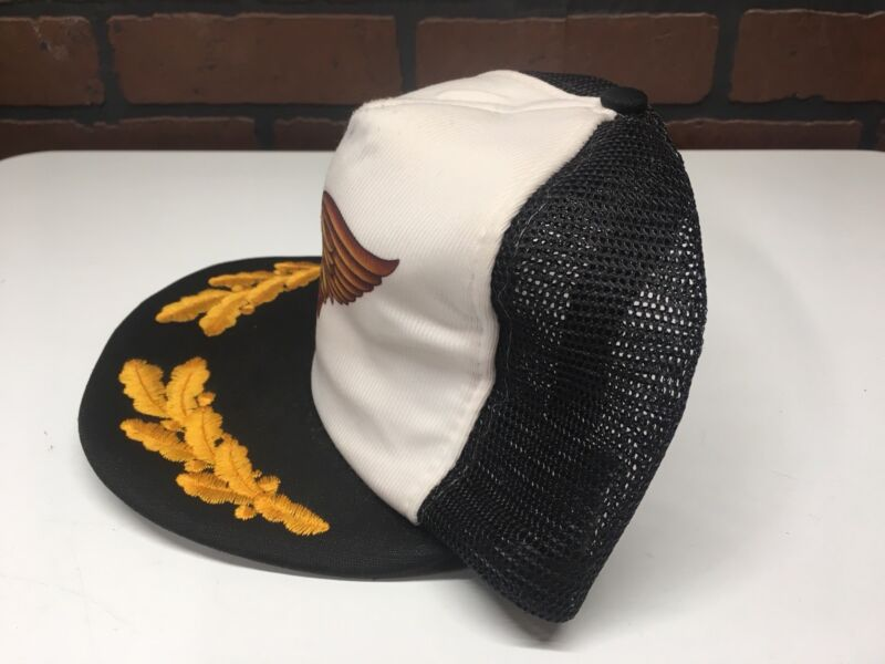 65ec4373 ... Vintage Harley Davidson Motorcycle Logo Foam Front Mesh Snapback Trucker  Hat Cap ...