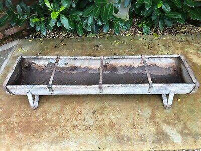 Pig trough old  Galvanised riveted  Antique feeder rural bygone garden planter