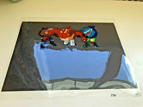 Street Sharks Original Production Animation Cel JAB BIG SLAMMU & STREEX!!!