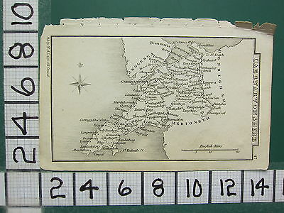 c1833 GEORGIAN MAP ~ CAERNARVONSHIRE ~