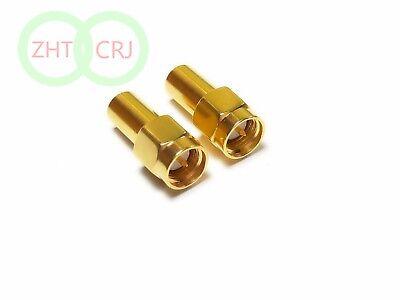 10pcs Lot Copper Sma Male Rf Coaxial Termination Dummy Load 1w Dc- 3.0ghz 50 Ohm