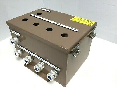 Steel Enclosure Junction Control Box 11x7x8 W 7 Hubbell Shc1023 Cord Grips