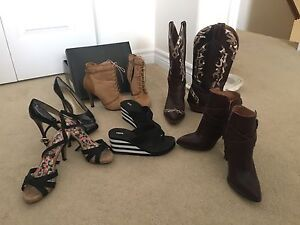 Assortment of shoes and boots