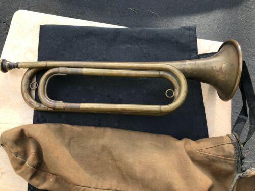 Vintage WWI? US army regulation AK Hüttl GRASLITZ bugle 1910