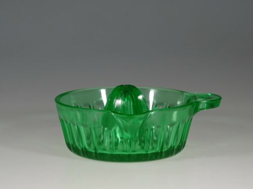Vintage Fry Glass Company Green Glass Juice Reamer Embossed c.1930