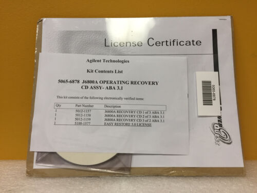 Agilent / HP 5065-6878 J6800A Operating Recovery CD Assembly. New!