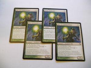 4x MTG Elvish Hexhunter-Elfo Cacciamaledizioni Magic EDH SHM Shadowmoor ITA-ING - Italia - L'oggetto può essere restituito - Italia