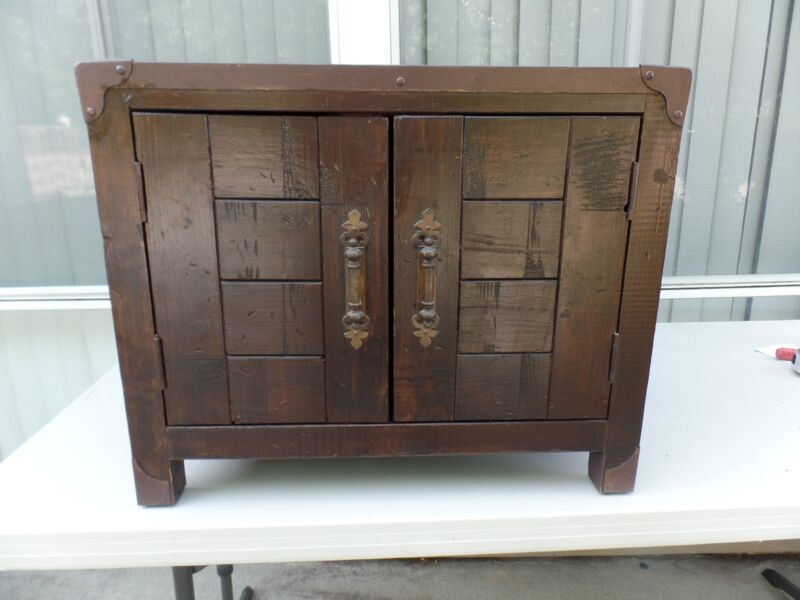 VINTAGE SOLID WOOD HAND MADE CABINET