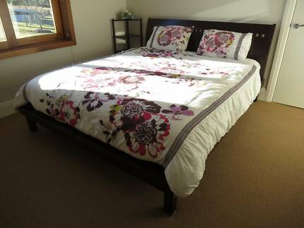 King Size Bed and Mattress Balinese Style Cherry Wood