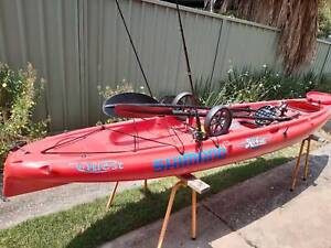 Two kayaks with accessories