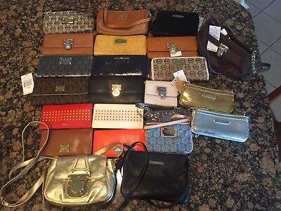 Michael Kors MK Ralph Lauren RLL Dooney Bourke Leather Wallet Wristlet Bag LOT