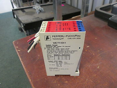 Pepperl Fuchs Isolation Amplifier Switch We77ex1 Used
