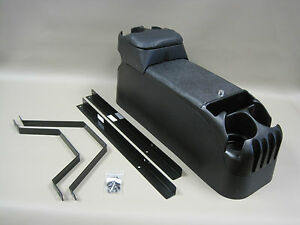 p71 black center console crown victoria with tip up armrest w no drill mount kit ebay. Black Bedroom Furniture Sets. Home Design Ideas
