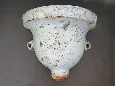 Vintage cast iron drain pipe hopper - Great as a garden planter
