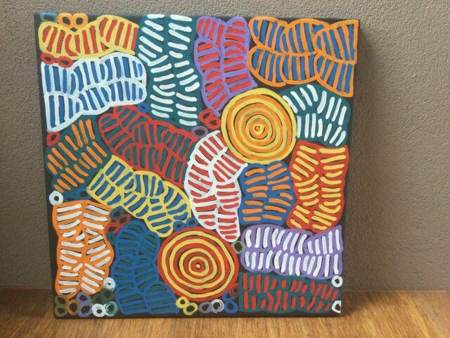 "Authentic Aboriginal Art ""Awelye"" By Betty Mbitjana"