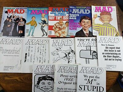 Alfred P Newman (MAD Magazine Lot of 12 1991-1999 Alfred P Newman Nice)