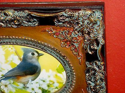 Gorgeous Ornate Rococo Baroque Black Gold Picture Frame Maslowski Bird Art Print