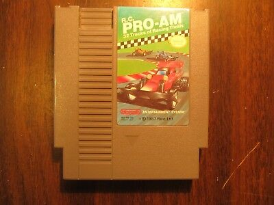 R.C. PRO-AM  NES Nintendo Entertainment System (Tested and Working)