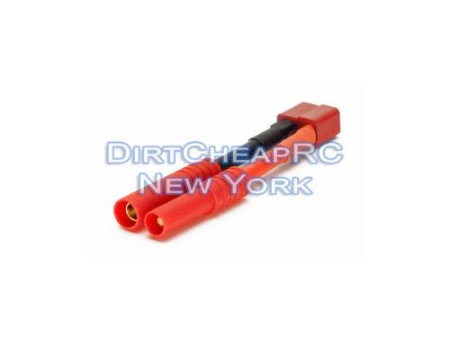 High Current Adapter: Deans Female to 4mm Banana Plug 12AWG - T-Plug ESC LiPo