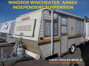 WINDSOR WINDCHEATER POP TOP CARAVAN. ROLL OUT AWNING. ANNEX WALLS Heathcote Sutherland Area Preview