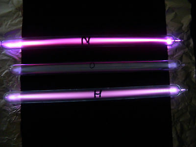 Tesla Ampullen Hochfrequenzelektroden violet ray Gase high frequency H,N,O