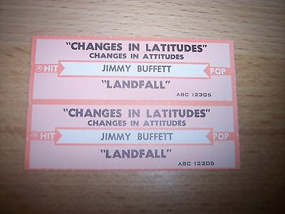 "2 Jimmy Buffett Changes In Latitudes Jukebox Title Strips CD 7"" 45RPM Records"