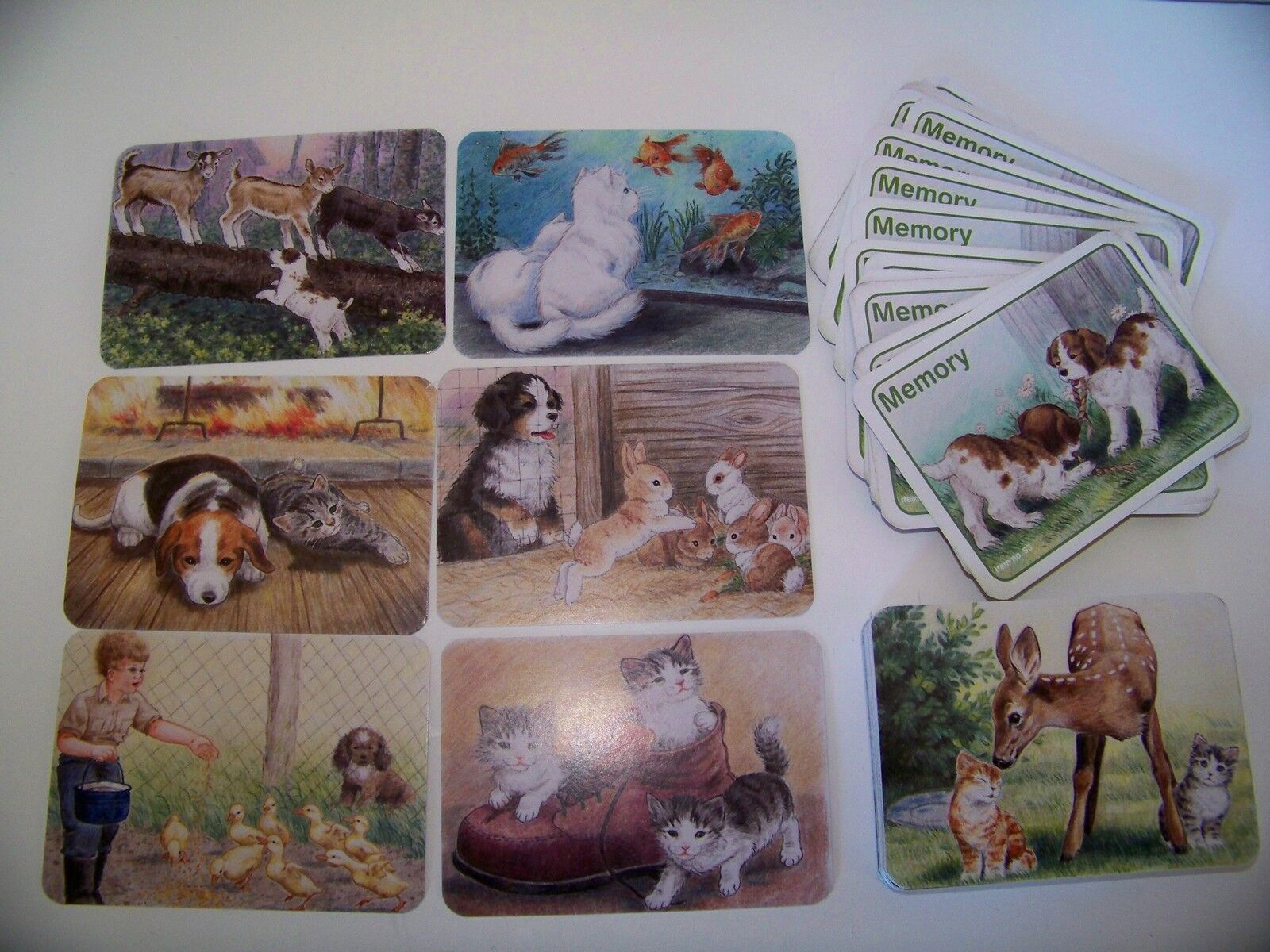 Animal Memory Card Game for Children Animals in Color 50