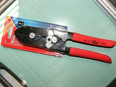 Wiss Hc5v Hc-5 New Sheet Metal Crimping Pliers Fast Shipping