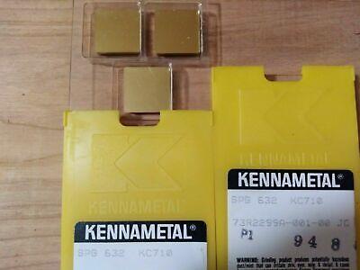 5 Pcs. Spg 632  Kennametal Kc710 Carbide Inserts